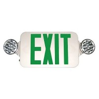 Emergency Exit light Sign with recessed - Double lamps(white)