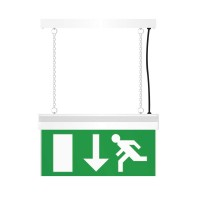 Emergency Exit light Double Side Sign-Green and White