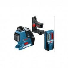 BOSCH Professional Line Laser - 060106330A (GLL 3-80 P) + BM1 + LR2